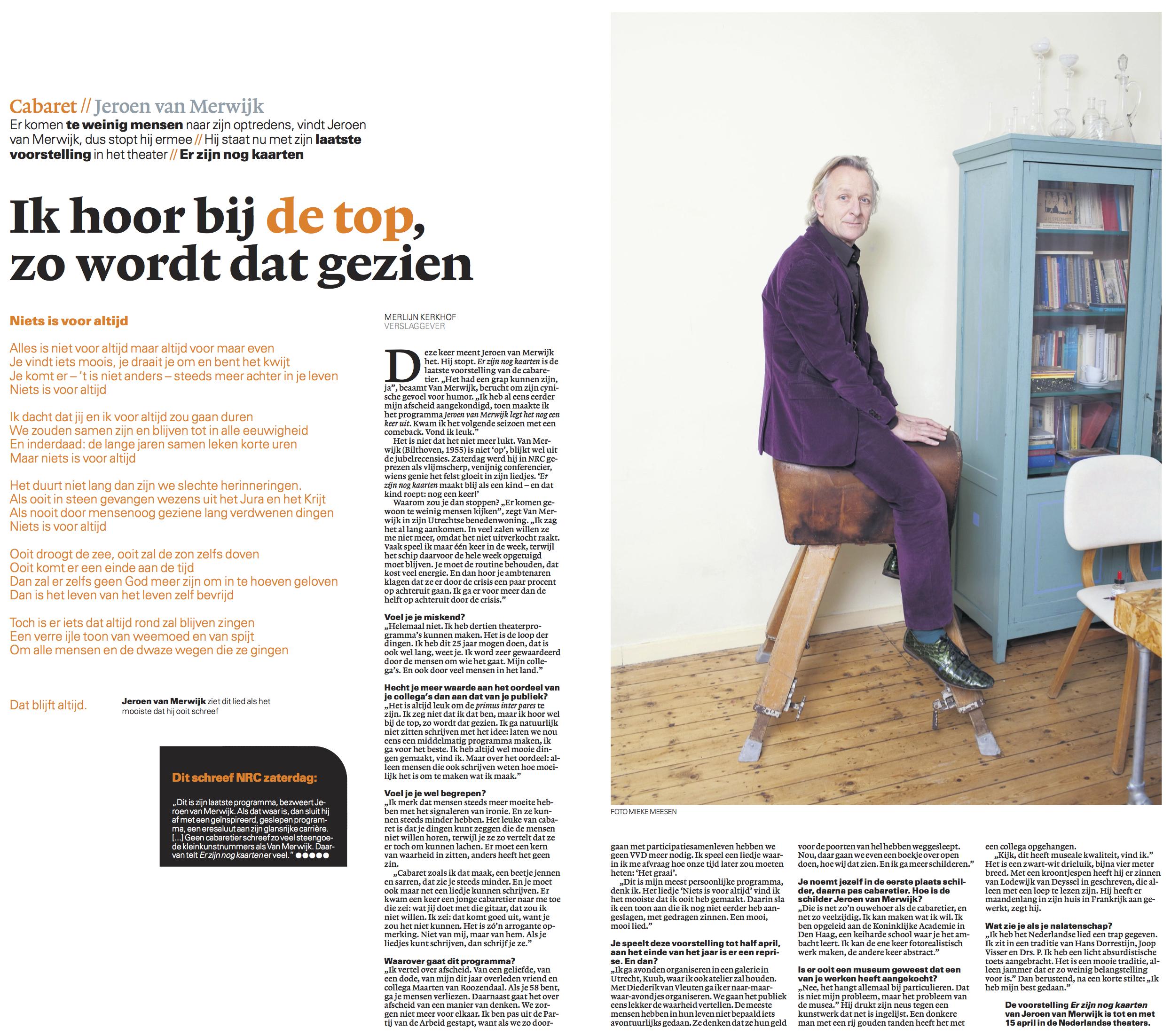 Overige Dagbladen Jeroen Van Merwijk