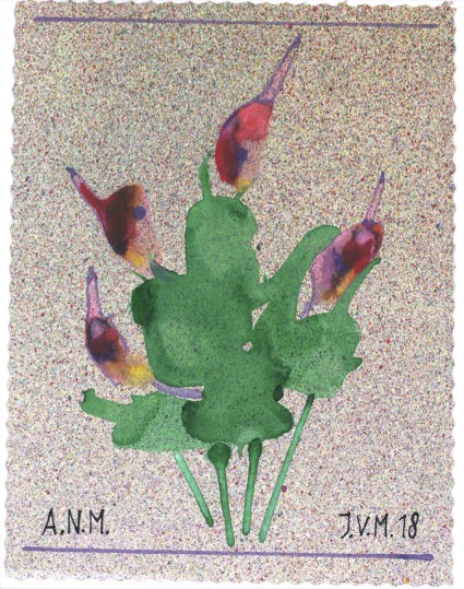 Acryl op papier, 12 x 16 cm.