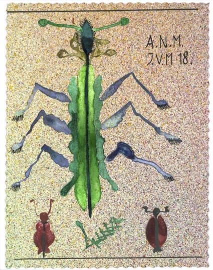 Acryl op papier, 12 x 16 cm